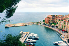 French riviera. Monaco. Monte Carlo. harbour Stock Photography