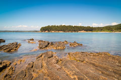 French riviera near St. Tropez - long exposure photo Stock Photography