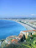 French Riviera, Nice. Aerial view of Nice waterfront in south of France Royalty Free Stock Photo