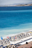 French Riviera Nice France beach  famous Royalty Free Stock Photos