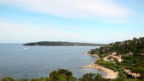 French Riviera, pan stock footage