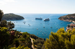 French Riviera. Panoramic view of the lagoon French Riviera Stock Image