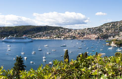 French Riviera. Panoramic view of the lagoon French Riviera Stock Photo
