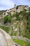 French Riviera, Pre-Alpine landscape: Luceram medieval village Stock Images