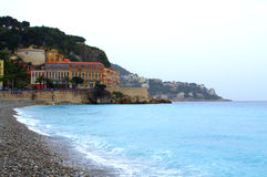French Riviera at rainy day Royalty Free Stock Photos