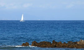 French Riviera - Sailboat Stock Image
