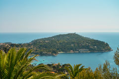 French riviera. Scenic view of the Mediterranean coastline on the French riviera Royalty Free Stock Image