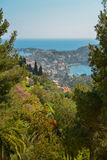 French riviera. Scenic view of the Mediterranean coastline on the French riviera Stock Photo