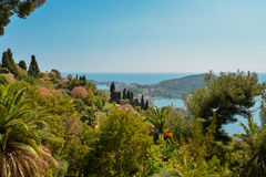 French riviera. Scenic view of the Mediterranean coastline on the French riviera Stock Photos