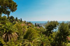 French riviera. Scenic view of the Mediterranean coastline on the French riviera Royalty Free Stock Images