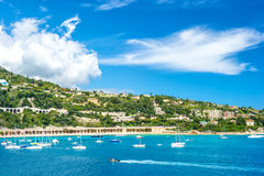 French riviera, view of luxury resort near Nice and Monaco Royalty Free Stock Photos