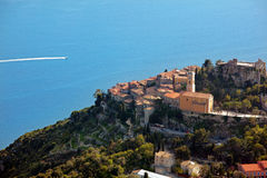 French Riviera: View Of Eze Village Stock Photos