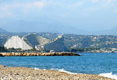 French Riviera - View to front luxury hotel Stock Image
