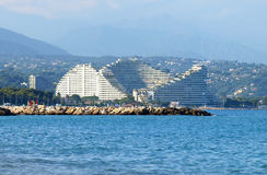 French Riviera - View to front luxury hotel Royalty Free Stock Images