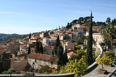 French riviera village Stock Photos
