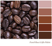 French Roast Coffee Palette Stock Photos