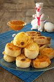 French rolls with honey and the Easter Bunny Royalty Free Stock Photography