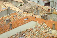 French roof tiles Stock Photos