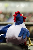 French rooster. This plush will fly to Brazil and support french soccer team Stock Image