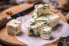 French Roquefort cheese Stock Images