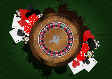 French roulette casino Stock Image