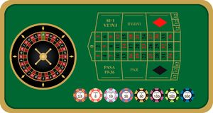 French roulette vector illustration vector illustration
