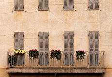 French rural balcony. Image of a balcony at an old rural french house. Taken in Paris, France Stock Photo
