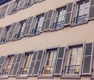 French rustic windows shutters rural house, France Royalty Free Stock Photos