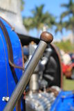 French 1920s racing car shifter. French 1920s racing car gear change lever bugatti. 1927 Bugatti t35 c. at 2013 cavallino concorso classic in south florida Royalty Free Stock Photo