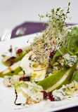 French salad. Plate of French salad elegantly served in restaurant Stock Photo