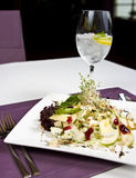 French salad. Plate of French salad elegantly served in restaurant Stock Photography