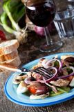 French salad nicoise Royalty Free Stock Photo