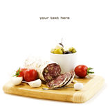 French Salami Royalty Free Stock Photos