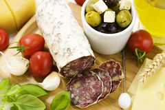 French Salami Stock Photos