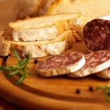 French salami Royalty Free Stock Image