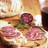 French salami Royalty Free Stock Images
