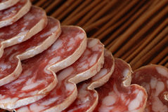 French sausage and aperitif Stock Photography