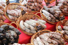 French sausages Royalty Free Stock Images