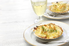 French scallop gratin Stock Images