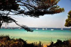 French sea. View of the Riviera Royalty Free Stock Photography