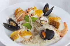 French seafood sauerkraut Stock Photos