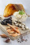 French seafood sauerkraut Stock Photo
