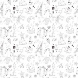 French seamless pattern Stock Photo