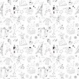 French seamless pattern Stock Photo