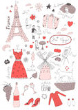 French seamless pattern Stock Photography
