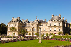 French Senat in Luxembourg Gardens Stock Photos