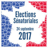 French Senate election 2017. In France royalty free illustration