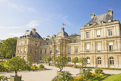 French Senate and Jardin du Luxembourg Stock Images
