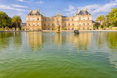 The French Senate and the Jardin du Luxembourg, Paris Stock Photos