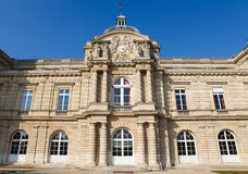 French Senate in Paris. Front facade of the Luxembourg Palace (Palais de Luxembourg) in Paris, France. This building houses the French Senate Royalty Free Stock Photos